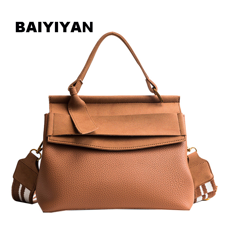 7161ab9f988 BAIYIYAN Fashion Luxury Pu Leather bag Casual Women Brand Shoulder Bag  Designers for Women 2018 Ladies Hand Bags-in Top-Handle Bags from Luggage    Bags on ...