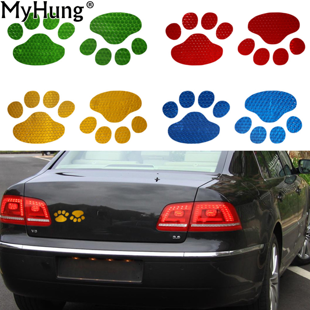 Car sticker design philippines - Car Window Bumper Body Decal Sticker Bear Dog Animal Paw Foot Prints Style Anime Accessories For