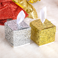 12pcs Lot Glitters Gold And Silver Color Candy Boxes Wedding Favor Box Birthday Baby Shower Party