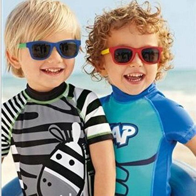 Children Swimsuit Animal Kids Swimwear for Boys Girls 2017 Summer Boys One Pieces Bathing Suits Quick Drying Children's Swimwear