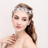 Dentelle Rose Fleurs Accessoriese Cheveux De Mariée Dentelle Bandeaux Bandes De Cheveux De Mariage Fille Cheveux Accessoires Avec Blanc Tache Ruban
