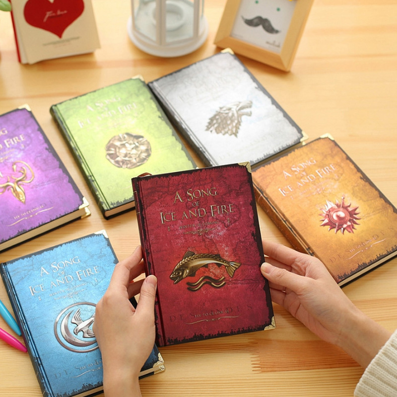 Game of Thrones Notebooks Vintage Hardcover Notebook for Gift Movie A Song of Ice and Fire A5 Size Nine Designs Day Planner game of thrones hear me roar lannister theme 3d bronze quartz pocket watch a song of ice and fire related product gift page 9
