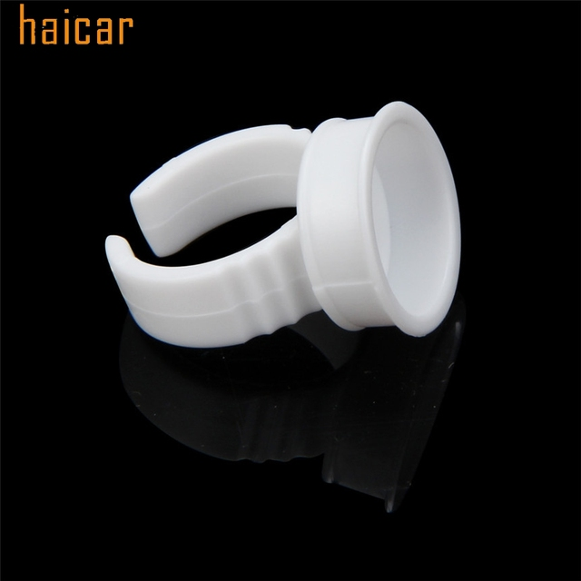 HAICAR Love Beauty Female  50pcs Microblading Pigment Glue Rings Tattoo Ink Holder For Half Permanent 161027 Drop Shipping 3
