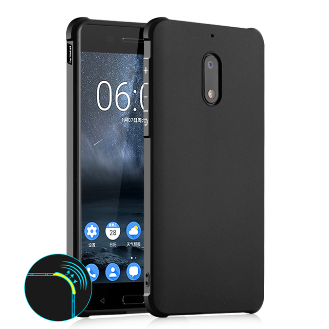 2017 Nokia 6 Six Case Soft Silicon TPU Cover Case for Nokia 6 Full Protective Armor Shockproof Case