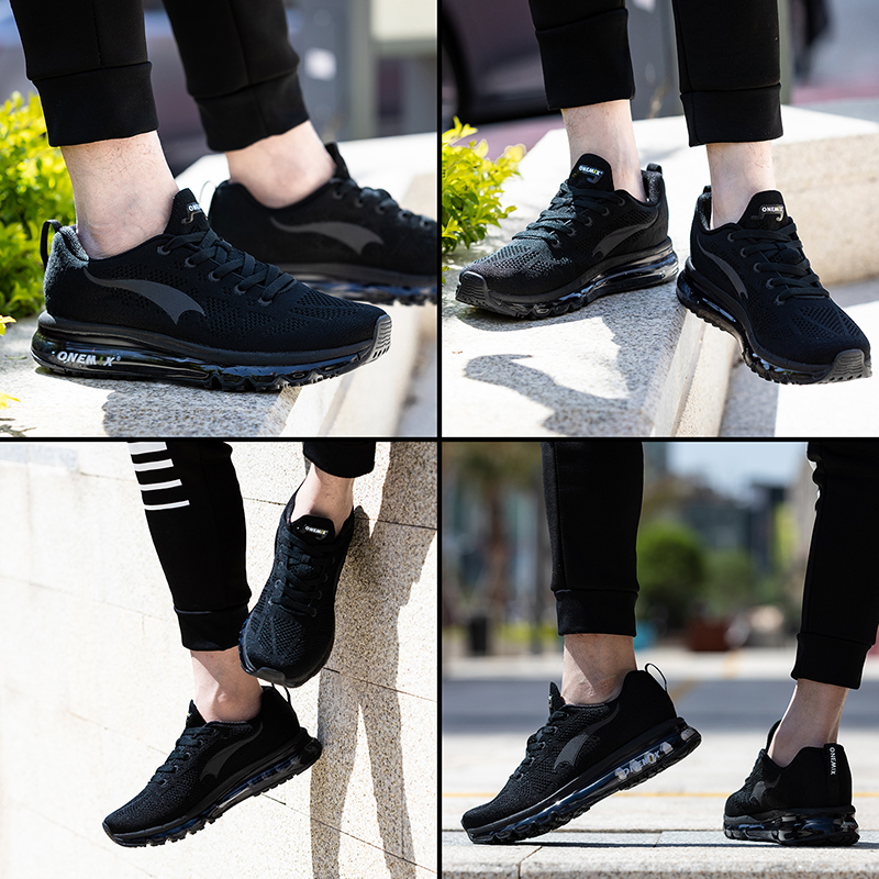 Image 2 - ONEMIX Men Running Shoes Women Air Knit Sneakers Light Outdoor Sport Shoes Air Cushion Althletic Shoes 2019 Newest-in Running Shoes from Sports & Entertainment on AliExpress