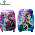 "18 ""Niños pulgadas Equipaje de Viaje para Girls Snow Queen Elsa Anna Cartoon Minion Niños Spiderman Maleta Bolsa de Viaje Equipaje Rodante"