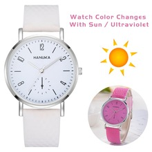 Unisex Fashion Change Color In the Sunshine Watches Women
