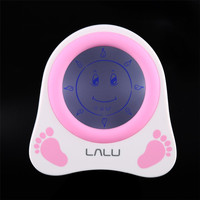 LALU Chidlren Sleep Trainer Alarm Clock Lovely Pattern Simulation of Diurnal Change Graphic Reminder with Story Book Kids Gift