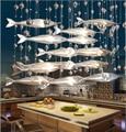 Роман творческий стекло летучей рыбы люстра для ресторан гостиная столовая декор 1889