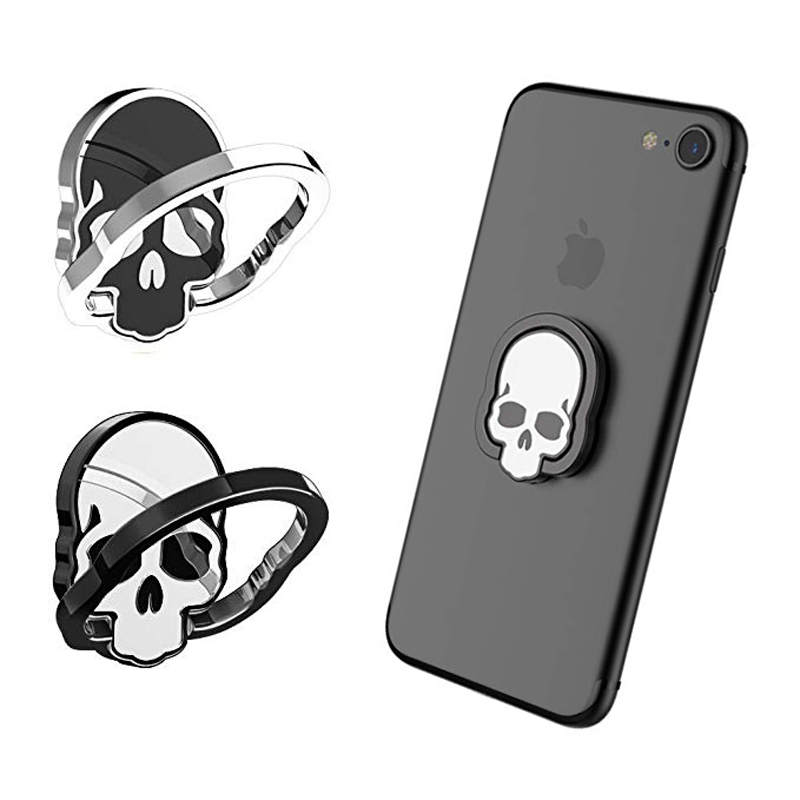 Finger Ring Holder ICK1 Skull for iphone X 8 7 6 6s Plus Samsung Galaxy Huawei Sony Magnetic Car Mount Adjustable Phone holder in Phone Holders Stands from Cellphones Telecommunications