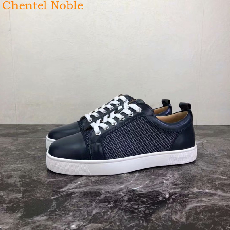 2019 Super Brand Chentel Noble Men Casual Shoes Party Dress Shoes Men Flats Lace-Up Sneakers High Quality Male Shoes Big Size(China)