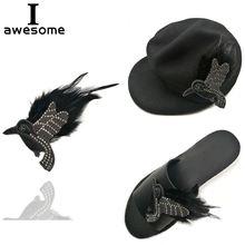 Обувь для свадебной вечеринки «сделай сам»; цвет черный птица