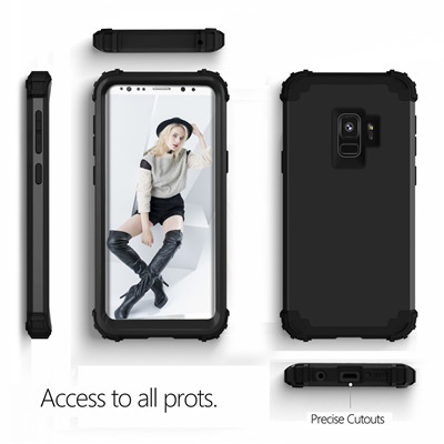 Heavy Duty Hybrid Case For Samsung Galaxy S9 S9Plus Shockproof Armor Rugged Case Cover Hard PC + Soft Rubber Silicone Phone Case (7)