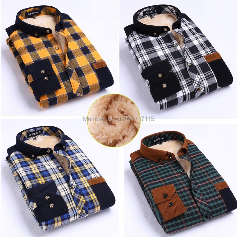 Men cotton shirts dress yellow blue stripe plaid thermal for Mens yellow plaid flannel shirt