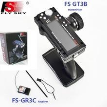 Flysky FS-GT3B FS GT3B 2,4G 3CH пистолет RC Управление Системы передатчик с FS-GR3C приемник для пульт ДУ для дистанционно управляемой машины лодки игрушки с светодиодный Экран