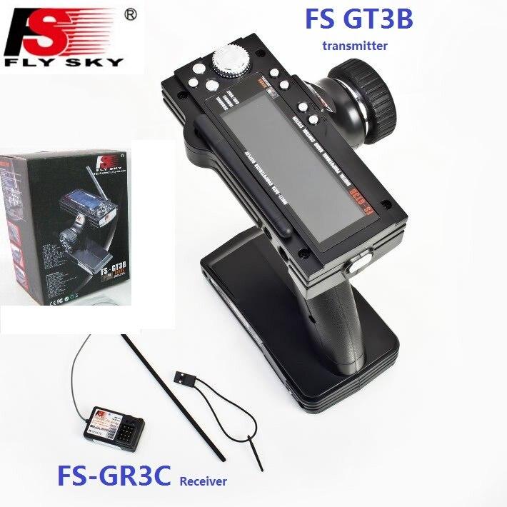 Flysky FS-GT3B FS GT3B 2,4G 3CH Gun Rc System Sender mit FS-GR3C Empfänger Für RC Auto Boot mit Led-bildschirm