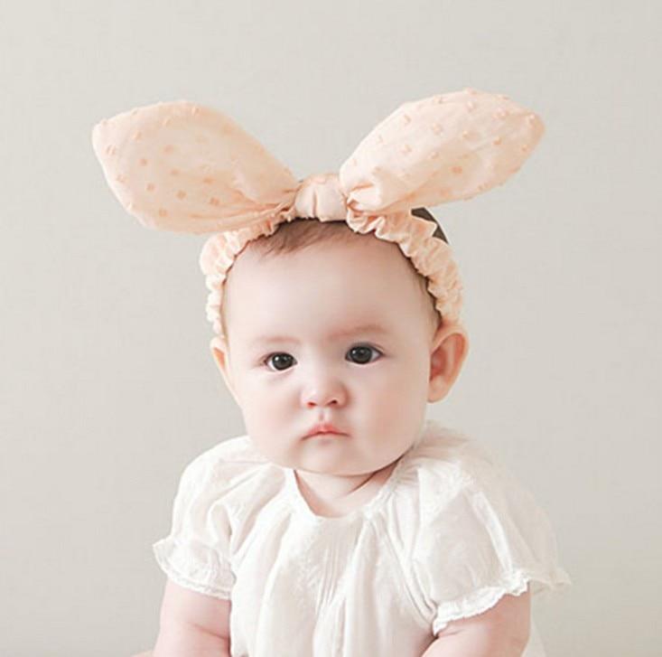 Baby Girl Kids Cute Big Ear Supreme Headband Toddler Headbands Girls Dot Hair Band Head Hoop Bow Accessories Photography Props