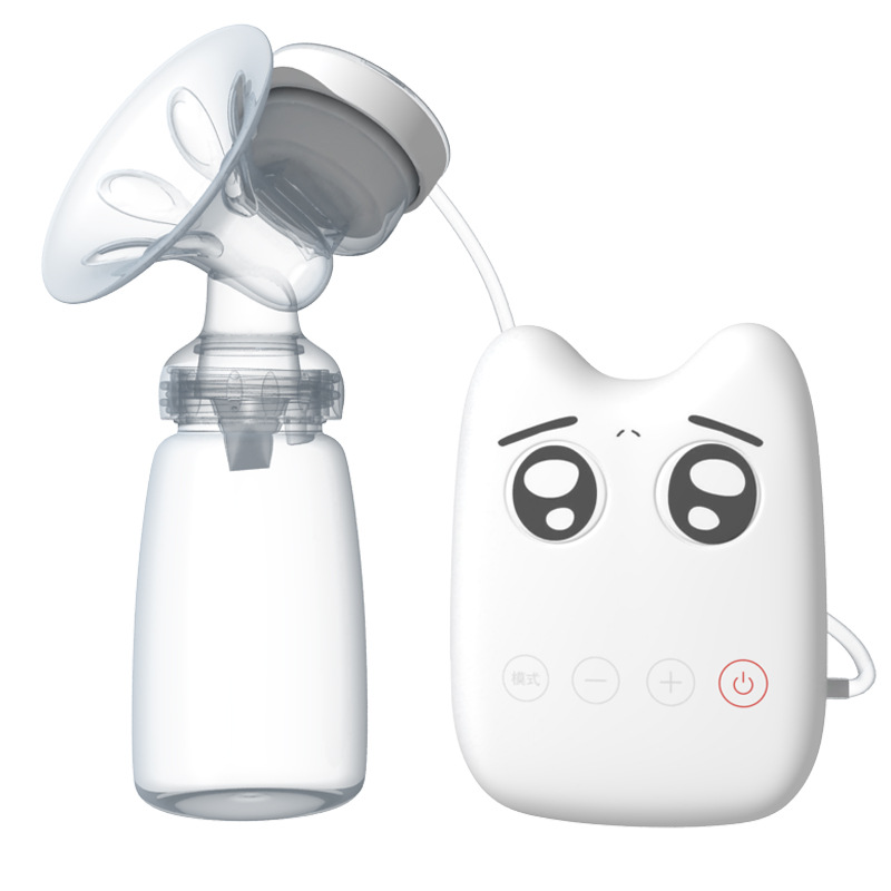 Single Electric Breast Pump Automatic Massage Strong Suction Powerful Intelligent USB Infant Milk Extractor Baby Feeding T2135