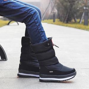 Image 2 - 2020 kış platformu kızlar çizmeler çocuk kauçuk kaymaz kar çizmeler ayakkabı kız için büyük çocuklar su geçirmez sıcak kış ayakkabı Botas