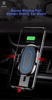 Baseus Wireless 2A Fast Charger Gravity Car Mount 10W Silicone For IPhone X 8 8Plus QI