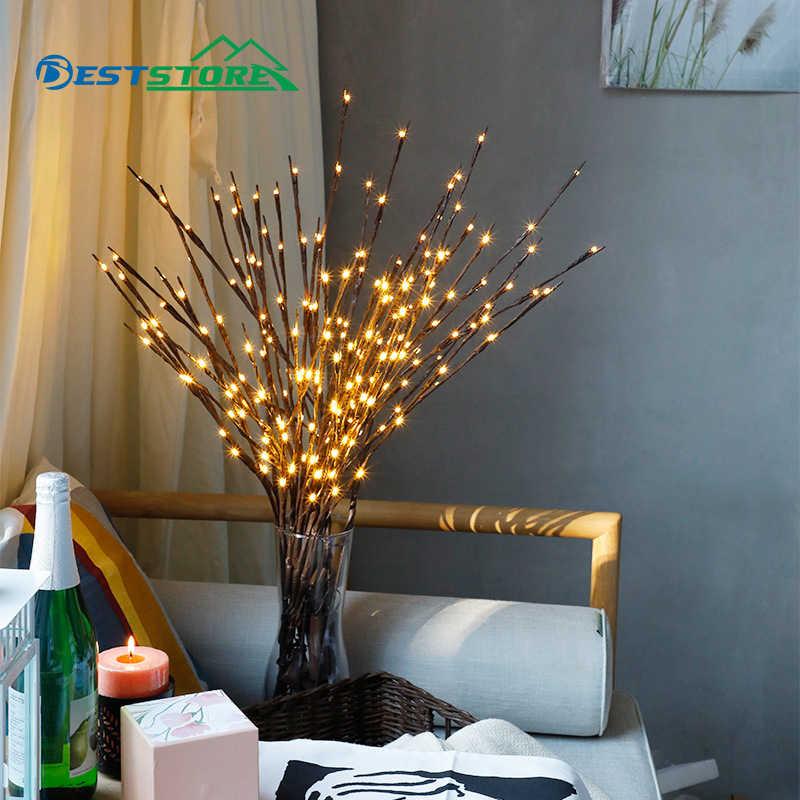 Огни Ночная елка 20 светодиодный ветка Ваза Свадьба Рождество романтический декор макет украшения в помещении креативный маленький Новинка лампа