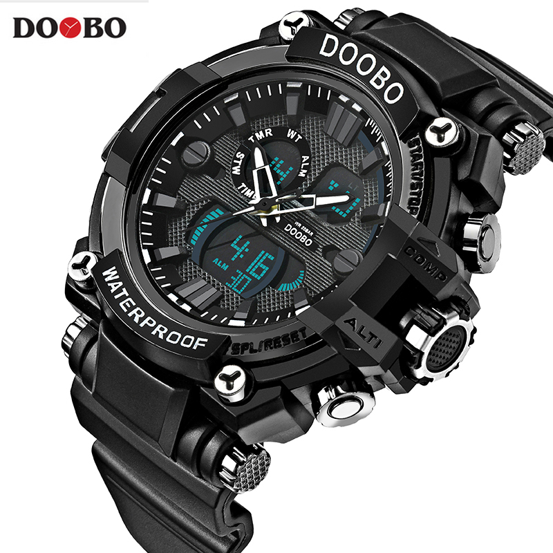 2017 Military Sport Watch Men Top Brand Luxury Famous Electronic LED Digital Wrist Watch Male Clock For Man Relogio Masculino top brand luxury digital watch waterproof military altimeter barometer compass sport watch man clock men hours relogio masculino