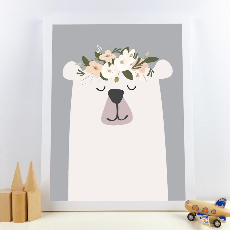 animal canvas print kids room