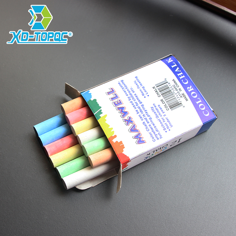 12 Pcs/Lot Dustless Chalk Pen Drawing Chalks For Blackboard 6 Colors Stationary Office School Supplies Accessories Tizas Escolar