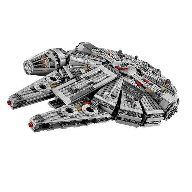 Lepin Brand Star Wars Series Millennium Falcon Building Blocks Compatible Bricks Toys Without Original Box