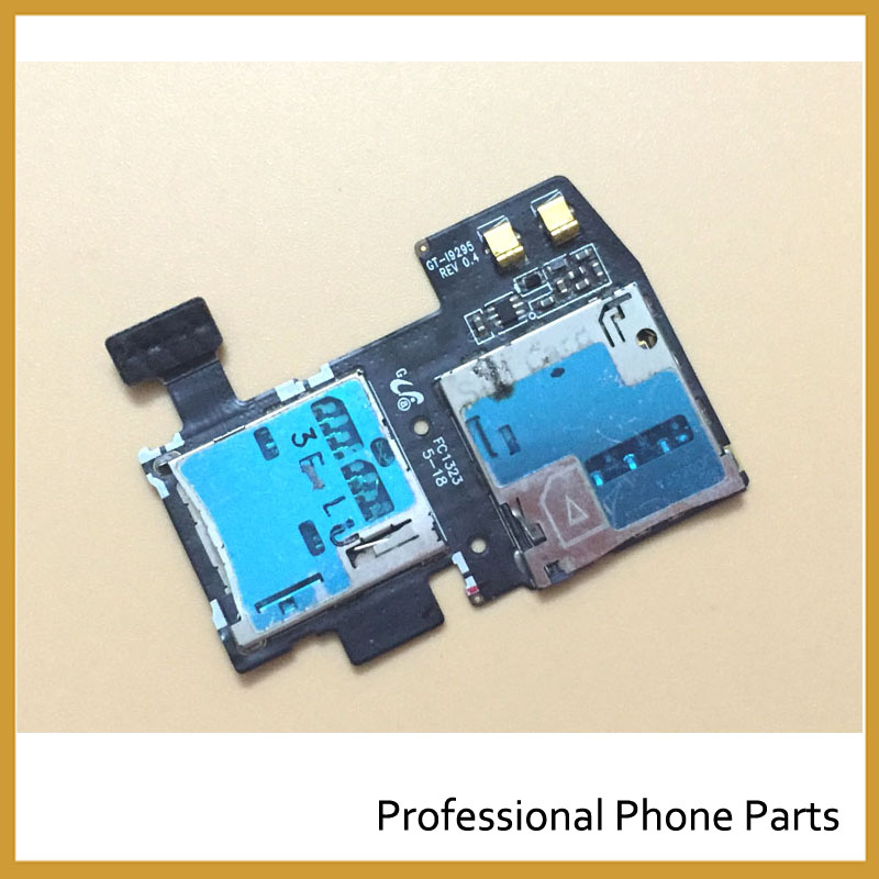 100% New Original Micro SD SIM Card Tray Slot Holder Flex Cable For Samsung Galaxy S4 Active I9295 I537 Replacement Repair Parts