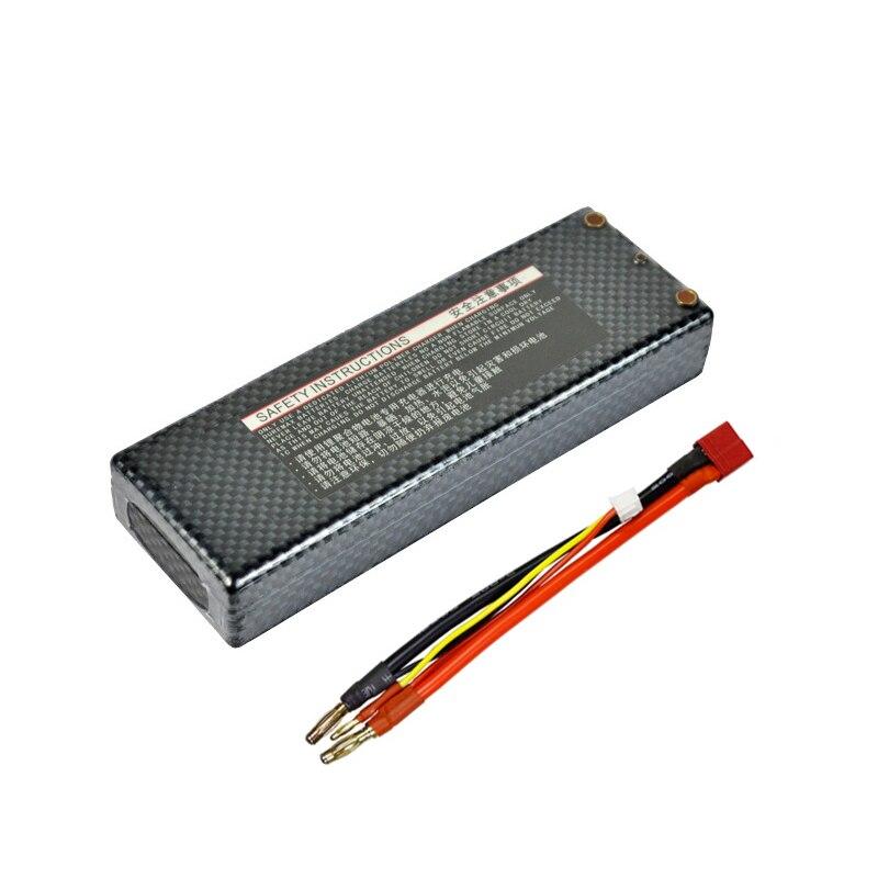 HRB Lipo 2 S batterie 7.4 V 6000 mah 60C Max 120C T plug à 4.0mm balle étui rigide banane connecteur RC batterie pour RC voiture RC pièces - 4