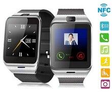 Original GV18 NFC Smart Bluetooth Uhr Für iPhone Android Telefon Für Samsung Armbanduhr Smartwatch Mit Kamera Sim-kartensteckplatz