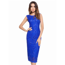 2018 summer new lace dress sleeveless sexy wrap hip one-step for women