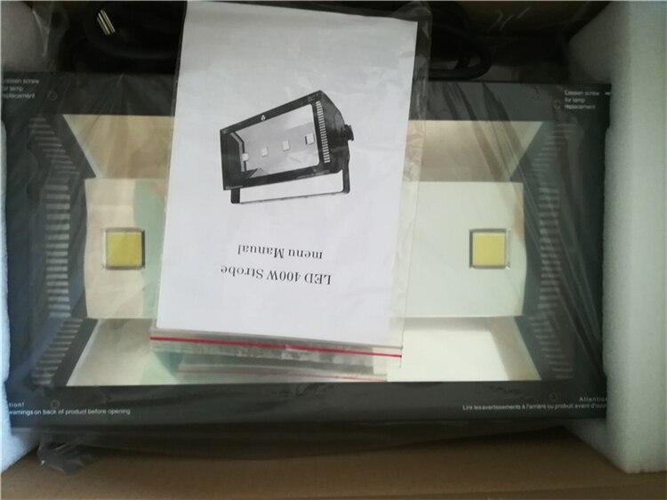 빠른 배송 새로운 도착 제품 4 pcs * 100 w 화이트 컬러 400 w led dmx 스트로브 라이트 전문 dj 무대 조명