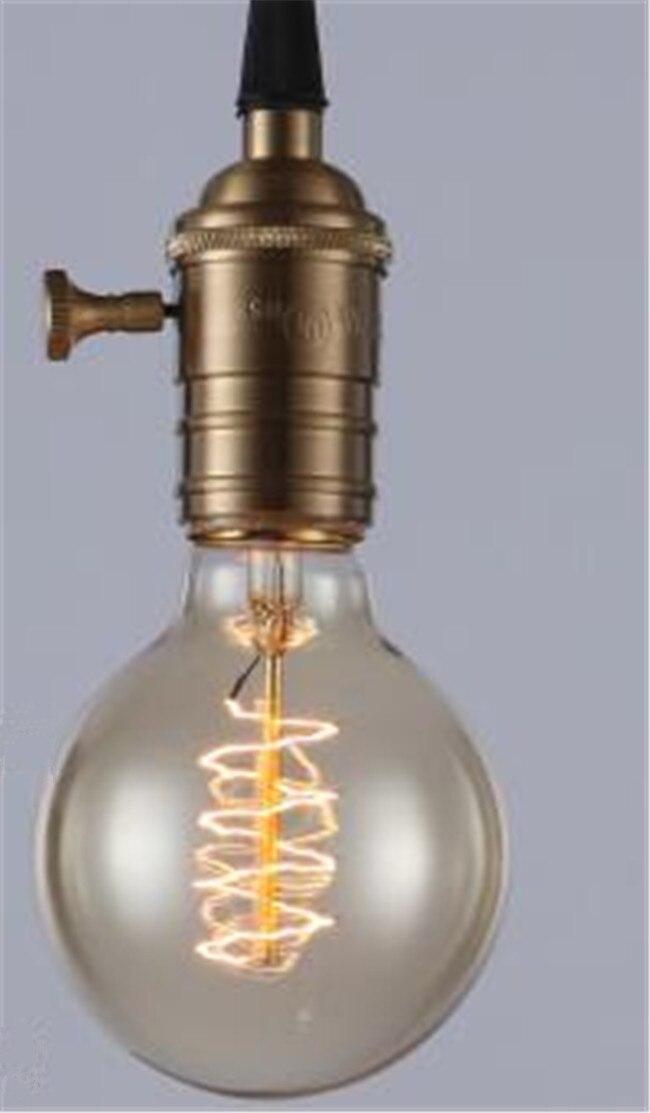 Ретро лампа E27 винтажные нить накаливания Light 220 В лампа накаливания G95 ST64 ST30 лампы для домашнего декора Bombillas наружного освещения - Цвет: Цвет: желтый