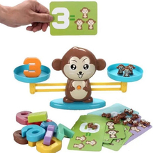Monkey Digital Balance Scale Toy Mathematics Enlightenment Cognitive Children Addition and Subtraction Math Scales Toys