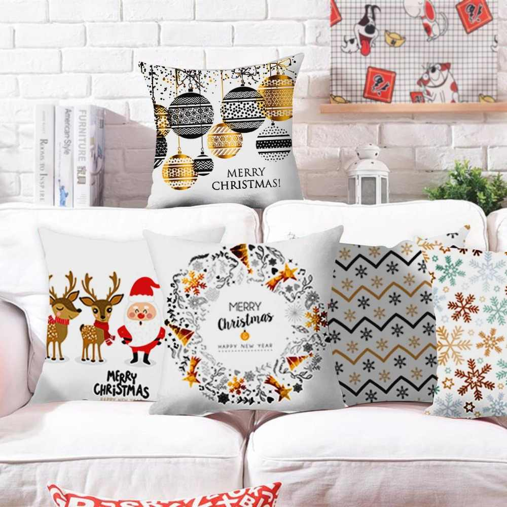 Reindeer Pillow Case Christmas Decorations for Home Cristmas Ornament Christmas Xmas Gift Navidad Natal Kerst 2019 New Year 2020