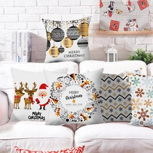 цена на Reindeer Pillow Case Christmas Decorations For Home Ornaments Christmas 2019 Xmas Navidad Santa Claus New Year Decor Gifts 2020