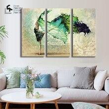 CRIAR & RECRIAR 3 pc Cartaz Cartazes E Cópias de Dança Pintura A Óleo da Lona Arte Da Parede para a Decoração Home Pictures CR1810214005