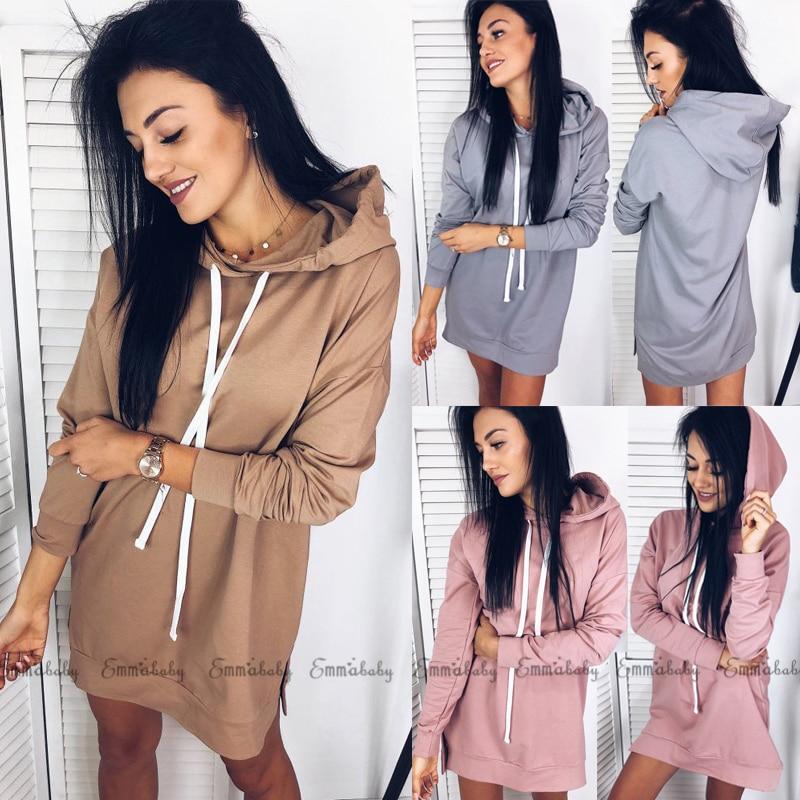 Fashion Hoodies Women 2018 Brand Female Long Sleeve Solid Color Hooded Sweatshirt Hoodie Tracksuit Sweat Coat Casual Sportswear