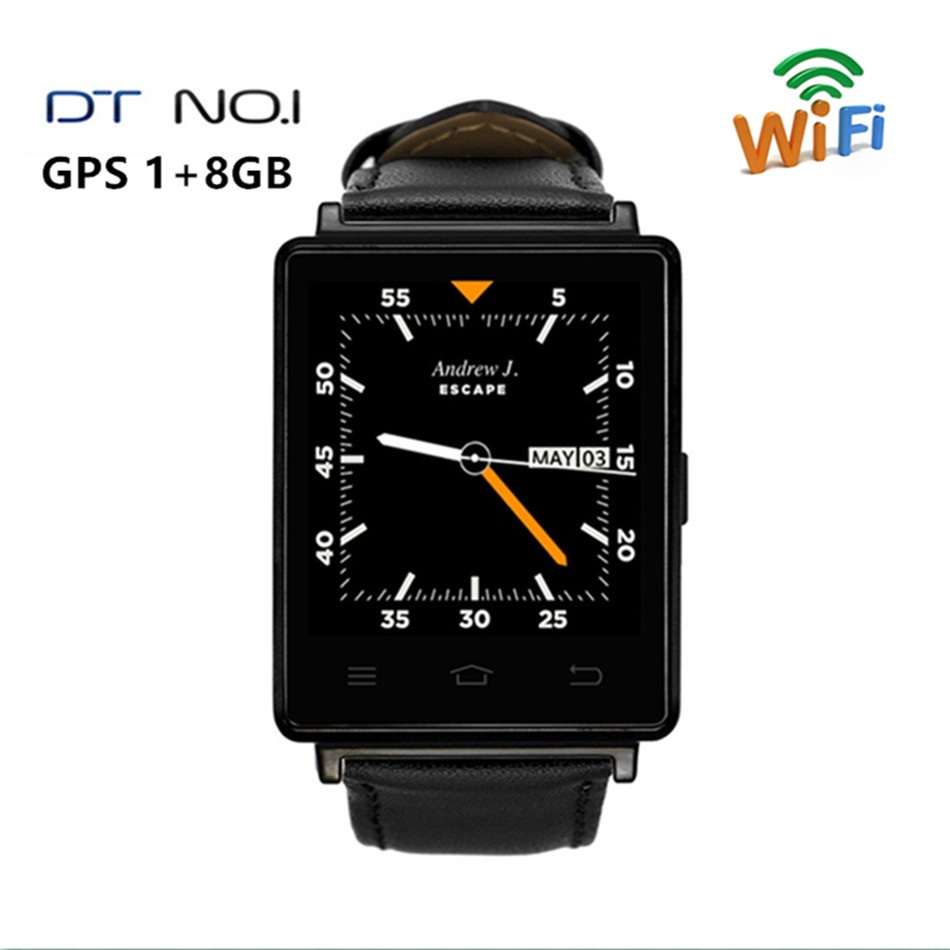 Bluetooth Smart Watch NO.1 D6 3G Android Smartwatch GPS SIM WiFi Quad Core1GB/ 8GB Heart Rate Monitor for Phone Android Ios bluetooth heart rate gps smart watch kw88 mtk6580 quad core 1 39 inch resolution 400 400 3g wifi smartwatch phone