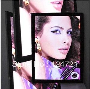 24 x 36 стены led дисплей черный, тонкий Рекламы Алюминия Lightbox 3 шт./лот Новый Стиль 2016