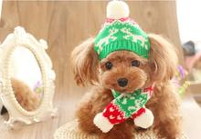 ФОТО 2017 new winter warm dog hat and scarf set pet scarf pet dog supplies