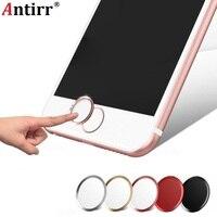 Antirr Ultra Slim Suporte Toque ID de Impressão Digital do Metal Home Button Sticker para o iphone 8 7 7 MAIS 6 6 S 6 MAIS 5 5S 5C SE