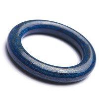 Из натуральной глубокий синий Лазурит камни камень Для женщин леди Шарм Кристалл Браслеты внутри Диаметр 57 мм