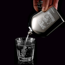5oz Luxury Stainless Steel Alcohol Hip Flasks Set Portable Business Men Travel Flagon Whiskey Wine Bottle Best Man Gift
