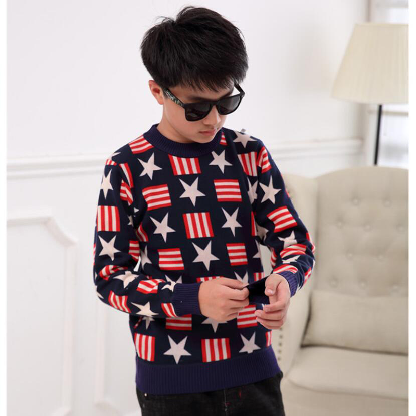 sweaters boy winter warm jacket Pullovers plush inside Knitted sweaters Loose jacket 3-13T children velvet sweaters boys knitted 5