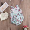 One-pieces New 2016 Do Bebê Verão Romper Floral Baby Girl Ruffle Lace Rompers Infantil Criança Macacão Bebê Recém-nascido Menina roupas