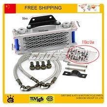 125cc 140cc 110cc horizontal engine zongshen lifan yx loncin radiator oil cooler accessories kayo taotao bse free shipping