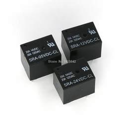 5 шт 5 V 12 V 24 V 20A DC Мощность реле SRA-05VDC-CL SRA-12VDC-CL SRA-24VDC-CL 5Pin PCB Тип черный автомобиль реле